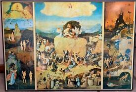 The Haywain Triptych by Hieronymus Bosch Print on Board Religious Art interiors