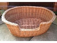 LARGE WICKER DOG BASKET (29 INCHES)