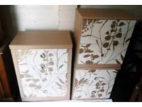 Diamanté caramel Chest of Drawers and 2 Bedside cabinets