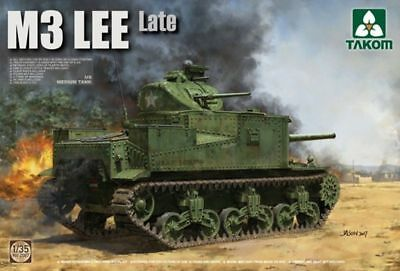 Used, TAKOM 2087 WWII M3 LEE US Medium Tank Late Production plastic model kit 1/35 for sale  Providence
