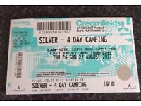 Creamfields 4 Day Camping silver