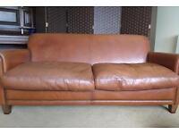 Laura Ashley Leather Burlington large two seater sofa