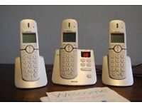 Philips CD445 Triple Cordless Telephone and Answering Machine System