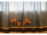 Next digger Curtains and single duvet set