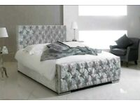 King Monaco Silver Bed Frame .. Whatsapp us to Order :)