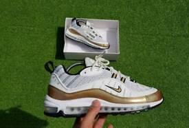 Nike Air Max 98 White/Gold