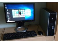 """HP Windows 10 Pro PC Computer/WIFI/2GB RAM/250GB/19""""Monitor"""