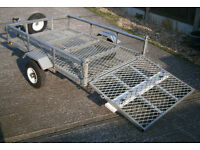 Wilstow 6ft x 4ft Galvanized Mesh Trailer.