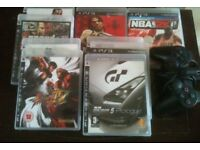 PS3 Games & Wireless Controller