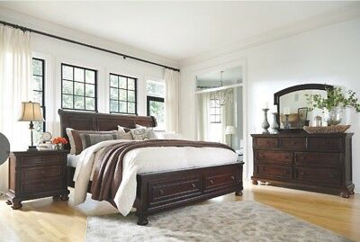 King Porter Sleigh Storage Bedroom Set - Ashley Furniture SEATTLE