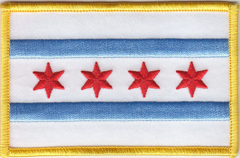 Chicago Illinois City Flag Patch FULL COLOR police/fire/EMS use IL