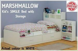 BRAND NEW Single Kids Boys Girls Bed With Storage DELIVERED FREE New Farm Brisbane North East Preview