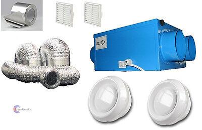 SALE Heat Recovery Bathroom Fan Condensation ventilation complete 2 room KIT