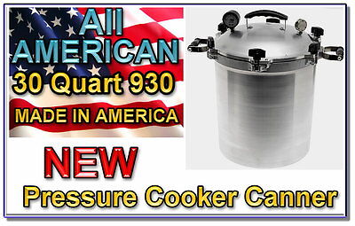 NEW 2013 All American  Pressure Cooker Canner 930 30 Qt Made in America on Rummage