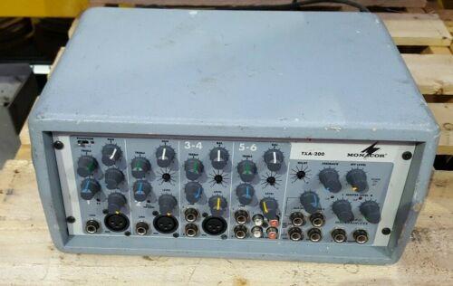 MONACOR TXA-200 TXA-200ACCU MIXING AMPLIFIER  (BR6.2)
