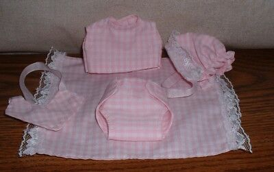 5 Piece Accessory Set For Ginnette Doll Pink Gingham