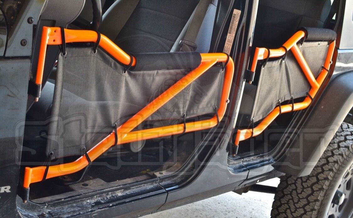 Steinjager Rear Tube Door Netting for Jeep Wrangler JK 07-18  Made in 5 Colors!