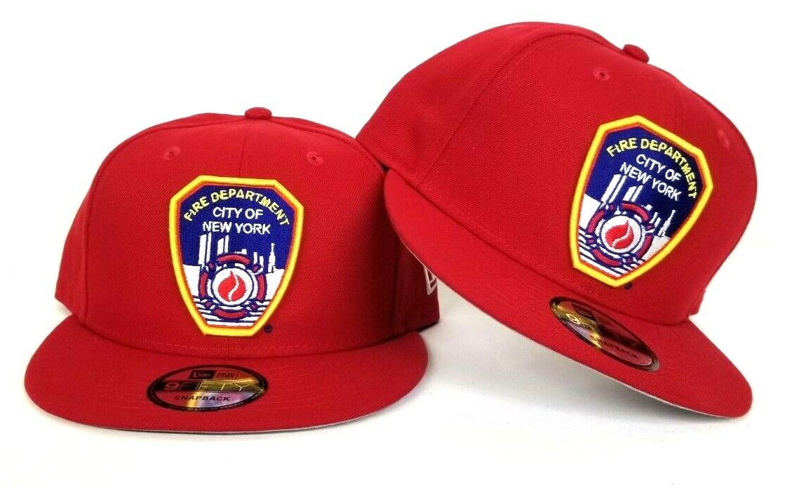 New Era Red Fire Department City Of New York FDNY Logo 9Fifty Snapback Hat