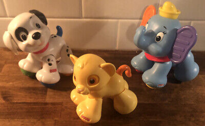 Fisher Price Amazing Animals Disney Lion Cub Simba Dumbo Dalmatian Puppy Lucky
