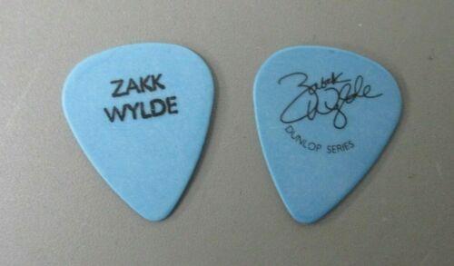 Black Label Society guitar pick Zakk Wylde black on blue pick OZZY !