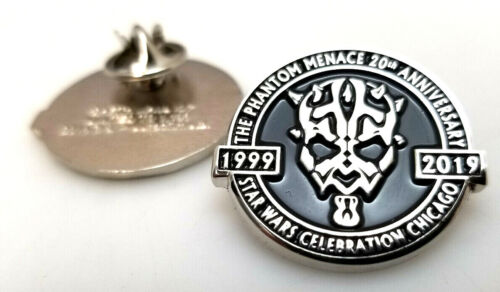 "2019 Star Wars Celebration Phantom Menace 20 Years 1"" Pin- Limited to 1138"