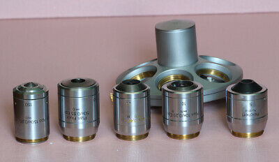 Reichert Lot 5 Microscope Objectives