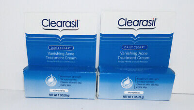 (LOT of 2) Clearasil Daily Clear Vanishing Acne Treatment Cream 24hr exp 03/2019
