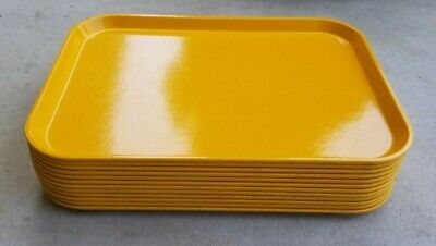 12 Cambro Camtray 12 X 16 Serving Trays Mustard Yellow