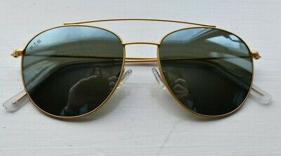 Kapten & Son Venice Pilot Style Matt Gold Frame & Mirrored Lens Sunglasses