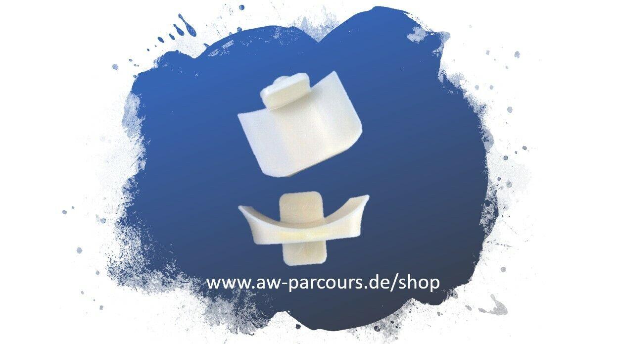 Hindernisauflage / Stangenauflage - Schalentiefe 20 mm oder 25 mm