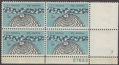 Scott # 1237 - US Plate Block Of 4 - The Sciences - MNH - 1963