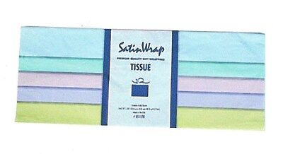 1-Premium Gift Tissue~5-Pastel-Colors~Gift Wrapping & Crafts~24-Sheets~USA Made Pastel Tissue Paper
