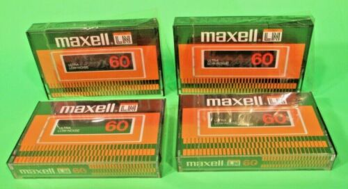 Lot Of -4- Maxell LN 60 New Vintage Factory Sealed Made In Japan