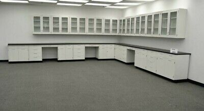 Science Furniture  34 Base 29 Wall Laboratory Cabinets E1-055