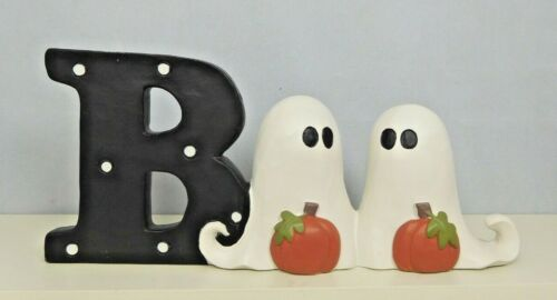 The word Boo with ghosts for the O letters - New by Blossom Bucket #12560