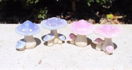Glitter Mushrooms - Fairy Garden