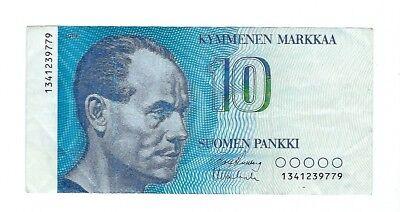 FINLAND - 10 MARKKAA, 1988