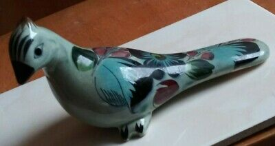 Mexico Antique Multicolor porcelain pigeon  瓷 像