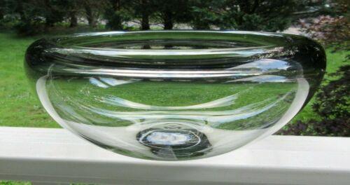 """Vtg Holmegaard PER LÜTKEN Provence Smoke Glass 10"""" x 4"""" LOW Bowl Signed #120449"""
