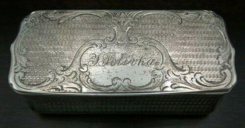 Ornate Antique 1863 ANDREAS SCHUTZ Prague Austrian Empire Sterling Silver Box