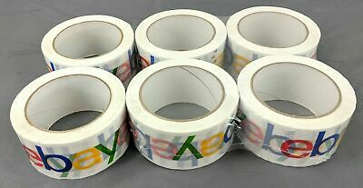 New 6 Rolls Colored Ebay Brand Logo Bopp Shipping Packing Tape 75 Yards X 2