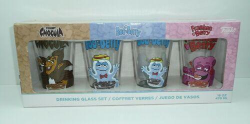 Drinking Glass Set Funko Count Chocula Boo-Berry Franken Berry Monster 16oz Pint