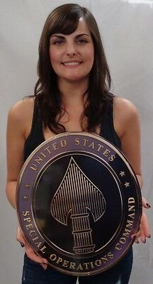 "US Special Operations Command SOCOM (USSOCOM) All Metal Sign 16 x13"""