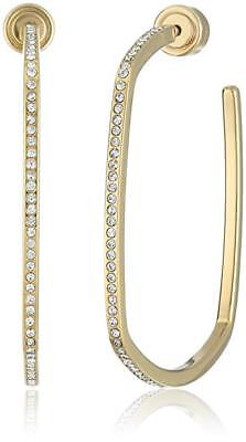 NEW AUTHENTIC MICHAEL KORS GOLD SQUARE CRYSTALS HOOP EARRINGS MKJ4592710