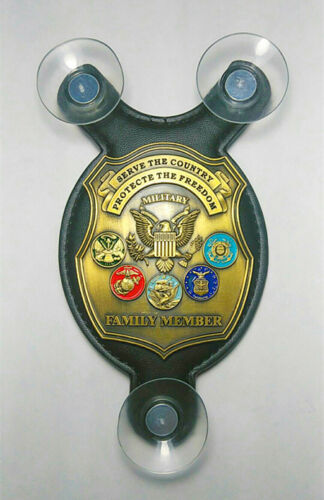 Serve the country & Protect the Freedom - Military Family Member car shield