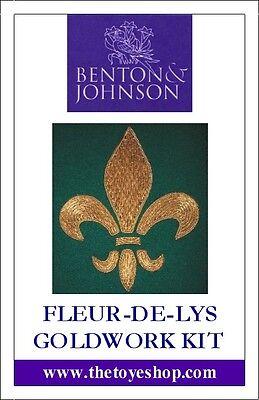Benton & Johnson - Fleur-de-lys Goldwork Kit - New/contains metal threads/felt