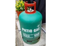 13kg Patio Gas Bottle - about 1/3 full