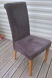2x Charcoal Grey Dining Room Chairs