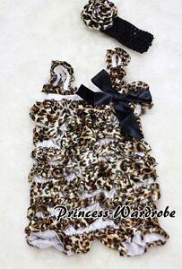 NewBorn-Baby-Leopard-Printing-Lace-Chiffon-Romper-Jumpsuit-Headband-2PC-Set-0-3Y
