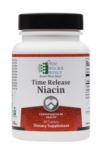 Ortho Molecular Time Release Niacin 90 Tablets Exp. 2/21 FRESH & FAST